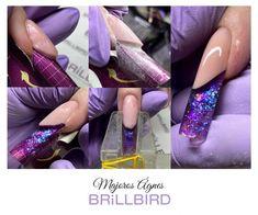 BrillBird műköröm alapanyagok, műkörömépítő tanfolyamok, köröm minták Disney Acrylic Nails, French Nails, Nail Designs, Beauty, Sophisticated Nails, White Gel Nails, Types Of Nails, Long Acrylic Nails, Nail Art