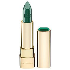 Green Lipstick!!  WANT!  - Dolce  Gabbana - Classic Cream Lipstick - Sicilian Jewels Collection in Smeraldo - ice-cold, luminous green  #sephora $36.00