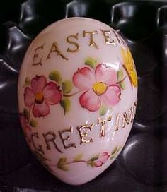 Mosser Glass New Hand painted Blown Easter Egg