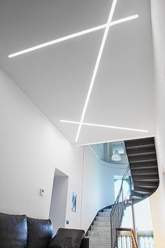 LEDs provide a choice of fashions. In addition, an LED can only deal with a certain quantity of current, so it's essential to connect a resistor in se. Beleuchtung Led Beleuchtung - Inspire Your Home is Very Interesting House Ceiling Design, Ceiling Design Living Room, Bedroom False Ceiling Design, Ceiling Light Design, Modern Ceiling, Home Ceiling, House Design, Linear Lighting, Strip Lighting