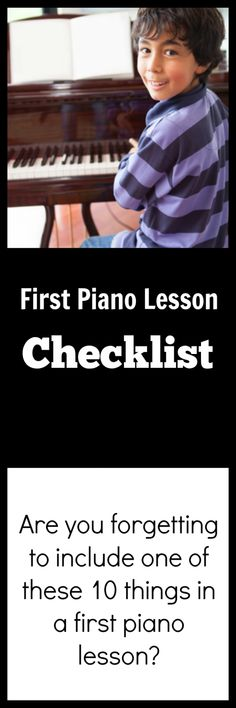 Check out our list of 10 things you should include in a very first piano lesson and add these ideas to your tool kit of teaching knowledge. #LearningPiano