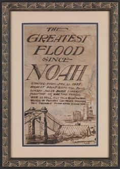 Art poster by R.W. Siebenthaler depicting the 1937 Ohio River Flood.