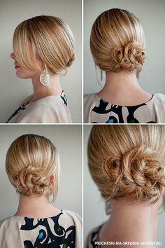 Повседневные прически для средних волос. 18 повседневных причесок