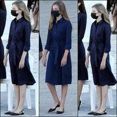 Spanish Royal Family, Royal House, Queen Letizia, Royal Fashion, Children, Kids, Fancy, Shirt Dress, Princess