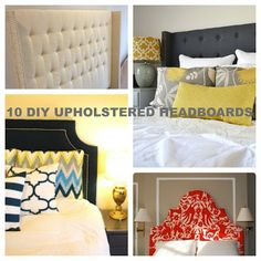10 DIY UPHOLSTERED HEADBOARDS W/TUTORIALS