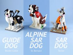 Working Dogs | by LEGO 7 Lego Dog, Lego Transformers, Cool Lego Creations, Guide Dog, Dog Crafts, Lego Models, Lego House, Working Dogs, Terrier Dogs