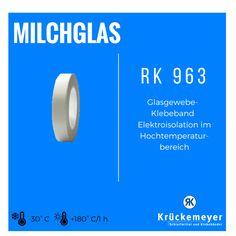 RK 963 - Glasgewebe-Klebeband für Elektroisolation im Hochtemperaturbereich #Krueckemeyer #Klebeband #Kleben #Adhesive #Tape #Glas #Hohe #Temperatur #Elektroisolation #Isolieren
