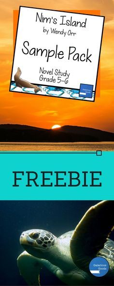 Explore Nim's Island by Wendy Orr with this free Novel Study Sample Pack containing activities from the Nim's Island novel study bundle