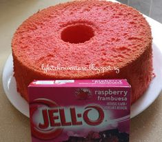 If you love Jell-O, you& be equally intrigued as me how this can be used to make a chiffon cake! Yes, a Jello Chiffon Cake! Jello Cake Recipes, Angle Food Cake Recipes, Pound Cake Recipes, Dessert Recipes, Yummy Recipes, Bunt Cakes, Cupcake Cakes, Cupcakes, Poke Cakes