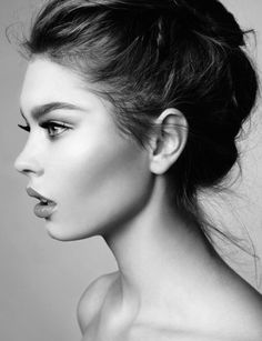 Stunning black and white beauty shot #makeup