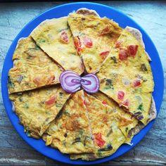Brutál fűszeres tojásos lepény reggelire - Helló Curry! Masala Chai, Naan, Frittata, Chili, Pizza, Bread, Cheese, Curry, Food