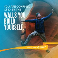 """You are confined only by the walls you build yourself. Sport Motivation, Fitness Motivation, Catchy Phrases, Weight Loss Inspiration, Motivation Inspiration, Philosophy Quotes, Jokes Quotes, Inspirational Thoughts, Wall Quotes"