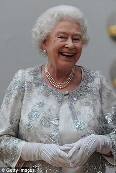 Possibly my favourite shot of Her Majesty; she looks so happy and natural. This is the way I like to think her grandchildren always see her; an Elizabeth the rest of us rarely see. - E.N.  ---   Shot during a special 'Celebration of the Arts' event at the Royal Academy of Arts on May 23, 2012 in London, England. (Photo by Carl Court)