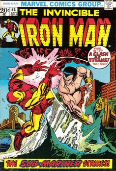 Iron Man #54. The Sub-Mariner. Cover by Gil Kane.