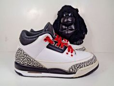 19c54031f Kids Nike Air Jordan 3 Retro GS Cement Basketball shoes size 6 Youth  398614-123