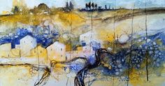 """Harvest time"" by Alessandro Andreuccetti. This original landscape painting comes from Alessandro's collection on FineArtSeen. Click to view more art at great prices from the Home Of Original Art. << Pin For Later >>"