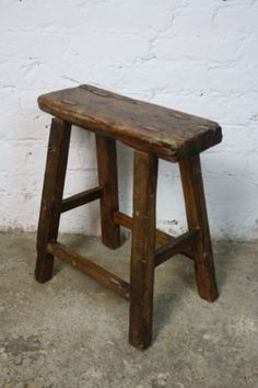 VINTAGE RUSTIC ANTIQUE WOODEN STOOL MILKING LARGE VARNISHED V26 & How awesome is this? Vintage Rolling Metal Warehouse Library ... islam-shia.org
