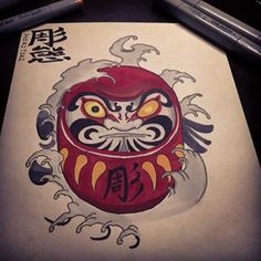 drawing of daruma is always fun #tattoo #japanesetattoo #asiantattoo #japanesestyle #asianink #japaneseink #sketch #draw #ink #singaporetattoo #sgtattoo #irezumi #irezumicollective #orientaltattoo