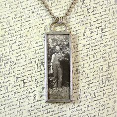 Vintage Photo and Lace Double Sided Necklace by XOHandworks