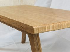 Birch plywood end grain coffee table with cherry veneer from Coffyn. Birch plywood end grain coffee table with cherry veneer from Coffyn. Large Furniture, Design Furniture, Plywood Furniture, Cool Furniture, Plywood Projects, Plywood Table, Diy Coffee Table, Dining Table, Table Desk