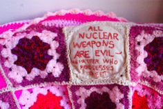 All nuclear weapons are evil - no matter who possesses them via Wool Against Weapons