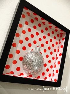 Styrofoam ball and some glitter makes cute Christmas decor - need to make this year!!!