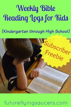 This freebie includes FOUR age-appropriate Weekly Bible Reading Logs. With consistency, these will help children begin a habit of reading the Bible.