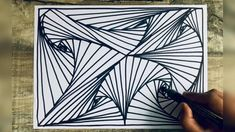 Illusion Drawings, Unique Drawings, Art Drawings Sketches Simple, Illusion Art, Pencil Art Drawings, Easy Drawings, Spiral Drawing, 3d Art Drawing, Mandala Drawing