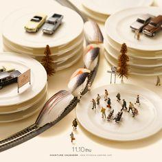 Bullet train - miniatur calendar