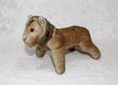 Early Velvet Straw Stuffed Lion ~ $35.00