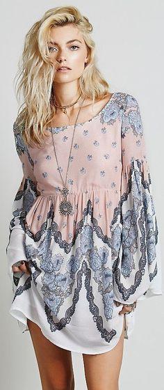 Free People ~ Free Falling Tapestry Print Dress