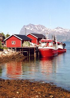 Norway- you see a lot of red paint because we were told it was the least expensive to use