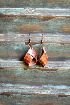 Handmade Leather Earrings from Thailand #134 · Purchase Effect · Online Store Powered by Storenvy