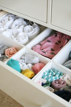 Nursery tour Hemnes chest of drawers from IKEA Apartment Apothecary Ikea Hemnes Drawers, Ikea Dresser, Dressers, Set Of Drawers, Diy Drawers, Chest Drawers, Cable And Cotton Lights, Nursery Dresser Organization, Closet Organization