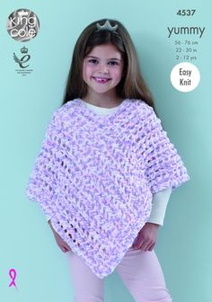 Ponchos Knitted with Yummy - King Cole