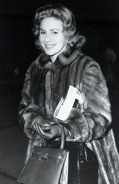 Athina Onassis Travelling in Fur Coat