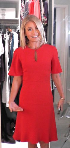 Today Kelly Ripa wore this cute red dress from Guilietta.