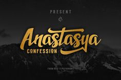 Anastasya Confession (introsale) by Rvq Type Foundry on @creativemarket