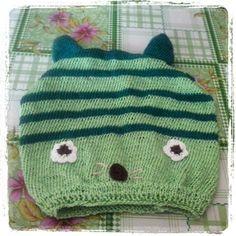 Cat hat knitting baby boy 12 months 100% cotton