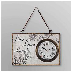 Decorative Wall Clock Live, Love, Laugh - Join the Pricefalls family - Pricefalls.com