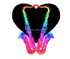 Colourful Saxy Heart by onefredband