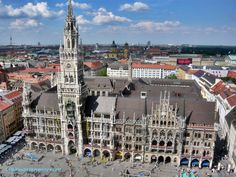 Tips for spending one day in Munich, including what to see, Munich tours to take, where to eat and where to stay in Munich. Plus Munich day trips if you have more time! Cities In Germany, Visit Germany, Munich Germany, Germany Travel, Town Hall, Holidays Germany, Romantic Road, Romantic Travel, Bavaria