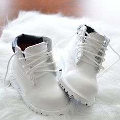Toddler White Timberland boots
