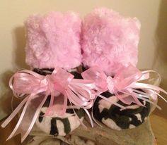 Camouflage with Pink Minky Cuddly Snugglies by TutuBeautifulbyCiwi