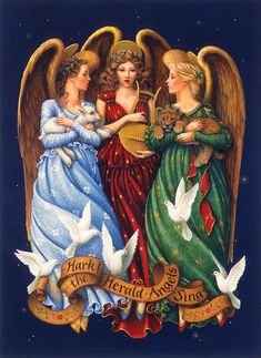 Hark The Herald Angels Sing Painting by Lynn Bywaters