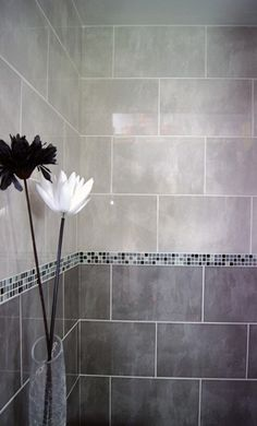 good two tone for shower remodel. Perhaps diamond shape one of the two tones?