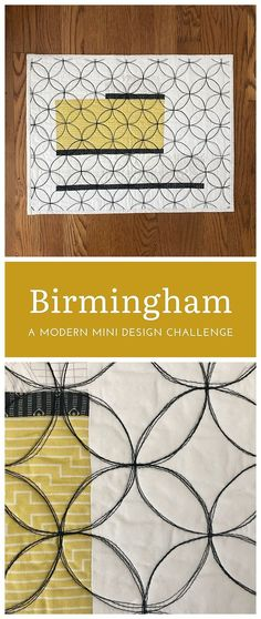 The Birmingham quilt by Cheryl of Meadow Mist Designs is a mini quilt made as part of a design challenge. The inspiration for this design was a library in Birmingham, England that had ornate ironwork in the shape of orange peels surrounding the building. The orange peel quilting in the mini quilt was made using multiple passes of Aurifil 50 wt black thread. #meadowmistdesigns #miniquilt Quilting Thread, Longarm Quilting, Quilting Tips, Machine Quilting, Quilting Projects, Quilting Designs, Best Embroidery Machine, Machine Applique, Modern Quilt Patterns