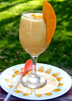 Mango Julius – Blended Cocktail - Drinks and Bevarages, Kids Friendly, Quick and Easy, Summer Recipes Mango Julius Mango Recipes, Fruit Recipes, Tofu Recipes, Summer Recipes, Cooking Recipes, Mango Fruit, Mango Salad, Juice Ad, Drink Recipes Nonalcoholic