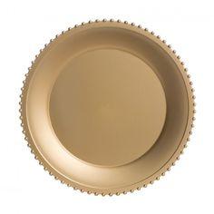 Ripple Glass Charger Plates™ - Gold BULK (4 Plates) [403393 Ripple ...