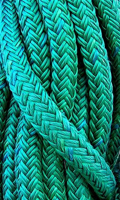 Teal cord with an aqua twist tjn